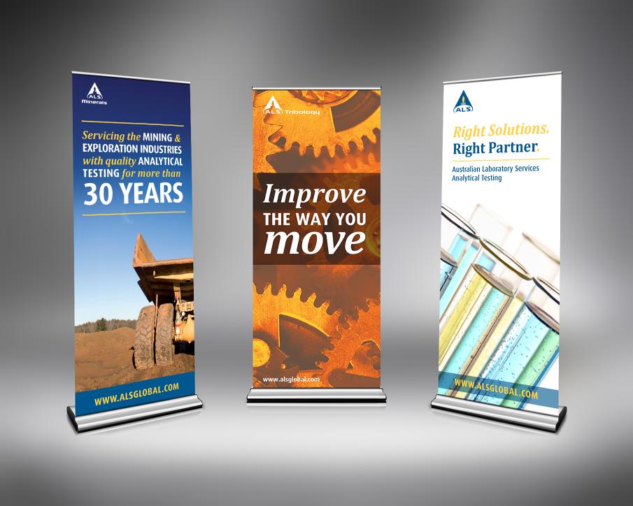 Pop Up Banner Design Ideas Pull Up Banner Concepts For ALS Minerals Left ALS Tribology